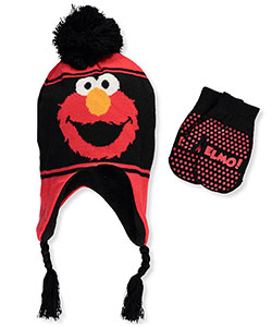 Sesame Street Boys' Beanie & Mittens Set (Toddler One Size) - CookiesKids.com