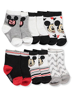Disney Mickey Mouse Baby Boys' 6-Pack Crew Socks - CookiesKids.com