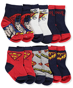 Superman Baby Boys' 6-Pack Crew Socks - CookiesKids.com