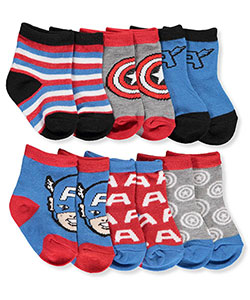 Marvel Baby Boys' 6-Pack Crew Socks - CookiesKids.com