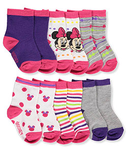 Disney Minnie Mouse Baby Girls' 6-Pack Crew Socks - CookiesKids.com