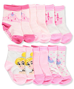 Disney Princess Baby Girls' 6-Pack Socks Featuring Cinderella - CookiesKids.com
