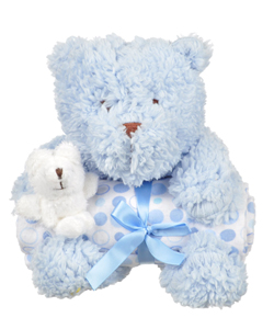 "Piccolo ""Mama & Baby Bear"" Stuffed Animal with Blanket - CookiesKids.com"