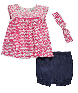 "Absorba Baby Girls' ""Picot-Trimmed Flora"" 3-Piece Outfit - CookiesKids.com"
