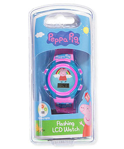 Peppa Pig Flashing LCD Watch - CookiesKids.com