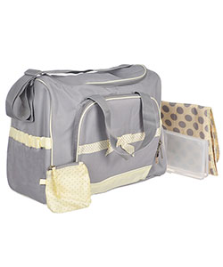 "Baby Essentials ""Dotty Bow"" 4-Piece Diaper Bag Set - CookiesKids.com"