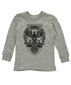 "Akademiks Little Boys' Toddler ""Raised Eagle"" L/S T-Shirt (Sizes 2T – 4T) - CookiesKids.com"