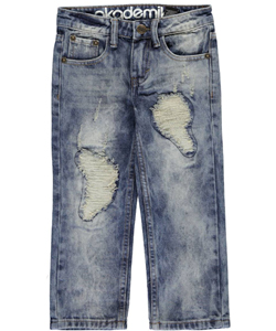 "Akademiks Little Boys' ""Fan Distressed"" Jeans (Sizes 4 – 7) - CookiesKids.com"