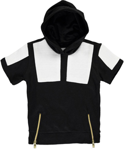 "Akademiks Little Boys' Toddler ""Ribbed Blocks"" S/S Hoodie (Sizes 2T – 4T) - CookiesKids.com"