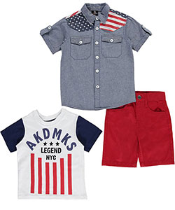 "Akademiks Little Boys' Toddler ""NYC Legends"" 3-Piece Outfit (Sizes 2T – 4T) - CookiesKids.com"