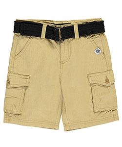"Akademiks Little Boys' Toddler ""Gridded Flaps"" Belted Cargo Shorts (Sizes 2T – 4T) - CookiesKids.com"