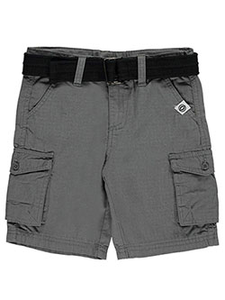 "Akademiks Little Boys' ""Gridded Flaps"" Belted Cargo Shorts (Sizes 4 – 7) - CookiesKids.com"