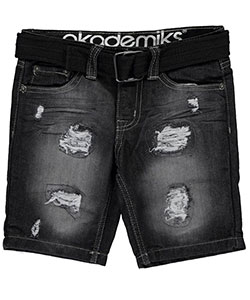 "Akademiks Little Boys' ""Sonora"" Belted Shorts (Sizes 4 – 7) - CookiesKids.com"