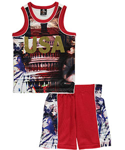 "Akademiks Little Boys' ""Golden Liberty"" 2-Piece Outfit (Sizes 4 – 7) - CookiesKids.com"