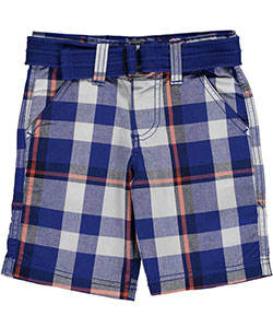 "Akademiks Little Boys' ""Plaid Crossfade"" Belted Shorts (Sizes 4 – 7) - CookiesKids.com"