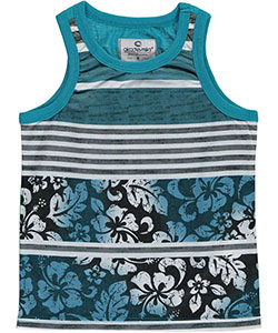 "Akademiks Little Boys' ""Hawaiian Striped"" Tank Top (Sizes 4 – 7) - CookiesKids.com"