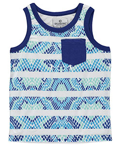"Akademiks Little Boys' ""Reptilian Striped"" Tank Top (Sizes 4 – 7) - CookiesKids.com"