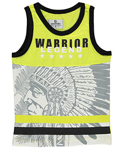 "Akademiks Little Boys' ""Warrior Legend"" Tank Top (Sizes 4 – 7) - CookiesKids.com"