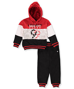 Akademiks Little Boys' 2-Piece Fleece Sweatsuit (Sizes 4 – 7) - CookiesKids.com