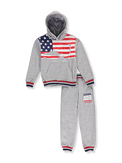 Akademiks Big Boys' 2-Piece Fleece Sweatsuit (Sizes 8 – 20) - CookiesKids.com