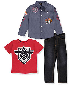 Akademiks Little Boys' Toddler 3-Piece Outfit (Sizes 2T – 4T) - CookiesKids.com
