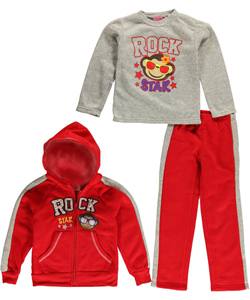 "2 B Real Little Girls' ""Rock Star"" 3-Piece Outfit (Sizes 4 – 6X) - CookiesKids.com"