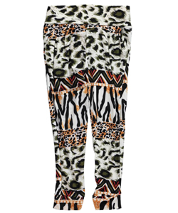 "Real Love Little Girls' ""Animal Potpourri"" Leggings (Sizes 4 – 6X) - CookiesKids.com"