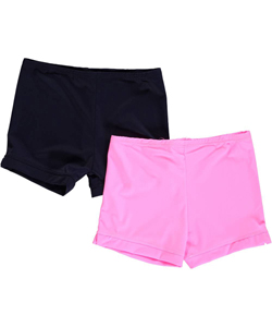"1000% Cute Little Girls' ""One Color"" 2-Pack Playground Shorts (Sizes 4 – 6X) - CookiesKids.com"