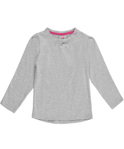 "Real Love Little Girls' ""Ruched Crew"" Top (Sizes 4 – 6X) - CookiesKids.com"