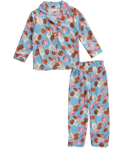 "Real Love Little Girls' Toddler ""Cookies & Milk"" 2-Piece Pajamas (Sizes 2T – 4T) - CookiesKids.com"