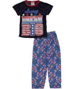 "Sweet n Sassy Little Girls' ""Always Dream Big"" 2-Piece Pajamas (Sizes 4 – 6X) - CookiesKids.com"