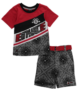 "Enyce Little Boys' ""Handkerchief Print"" 2-Piece Outfit (Sizes 4 – 7) - CookiesKids.com"