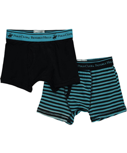 Beverly Hills Polo Club Little Boys' Toddler 2-Pack Boxer Briefs (Sizes 2T – 4T) - CookiesKids.com