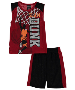 "American Hero Little Boys' ""Heroic Slam Dunk"" 2-Piece Pajamas (Sizes 4 – 7) - CookiesKids.com"