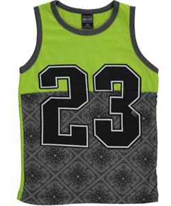 "Quad Seven Big Boys' ""Paisley 23"" Sleeveless T-Shirt (Sizes 8 – 20) - CookiesKids.com"