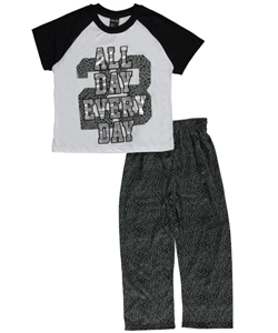 "American Hero Big Boys' ""All Day, Every Day"" 2-Piece Pajamas (Sizes 8 – 20) - CookiesKids.com"