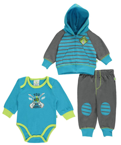 "Duck Duck Goose Baby Boys' ""You Rock My World"" 3-Piece Layette Set - CookiesKids.com"