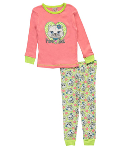 "1000% Cute Little Girls' Toddler ""Purr-fect"" 2-Piece Pajamas (Sizes 2T – 4T) - CookiesKids.com"