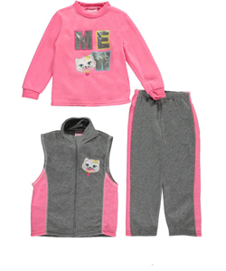 "Mon Petit Little Girls' Toddler ""Meow"" 3-Piece Outfit (Sizes 2T – 4T) - CookiesKids.com"