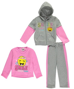 "Real Love Little Girls' ""Smile, Laugh, Love"" 3-Piece Outfit (Sizes 4 – 6X) - CookiesKids.com"