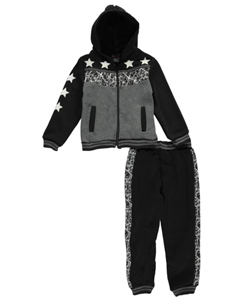 "Quad Seven Little Boys' ""Webbed Panel"" 2-Piece Fleece Sweatsuit (Sizes 4 – 7) - CookiesKids.com"