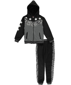 "Quad Seven Big Boys' ""Webbed Panel"" 2-Piece Fleece Sweatsuit (Sizes 8 – 20) - CookiesKids.com"