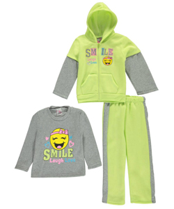 "Real Love Little Girls' Toddler ""Smile, Laugh, Love"" 3-Piece Outfit (Sizes 2T – 4T) - CookiesKids.com"