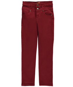 "Real Love Big Girls' ""High-Waist Twill"" Pants (Sizes 7 – 16) - CookiesKids.com"