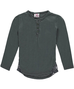 "Real Love Little Girls' ""Triangular Lace"" L/S Top (Sizes 4 – 6X) - CookiesKids.com"