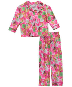 "Real Love Little Girls' ""Multi-Scoop"" 2-Piece Pajamas (Sizes 4 – 6X) - CookiesKids.com"