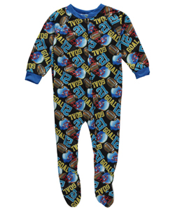 "Mon Petit Little Boys' Toddler ""Goal 21"" Footed Pajamas (Sizes 2T – 4T) - CookiesKids.com"
