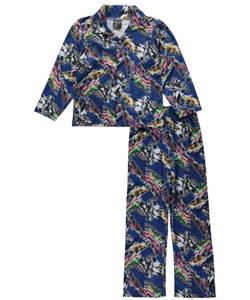 "Quad Seven Big Boys' ""Checkered Finish"" 2-Piece Pajamas (Sizes 8 – 20) - CookiesKids.com"