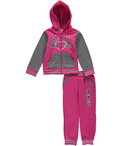 "Real Love Little Girls' ""Pretty Perfect"" 2-Piece Fleece Outfit (Sizes 4 – 6X) - CookiesKids.com"