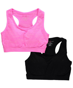 "Delia's Big Girls' ""Padded Textures"" 2-Pack Sports Bras (Sizes 7 – 16) - CookiesKids.com"
